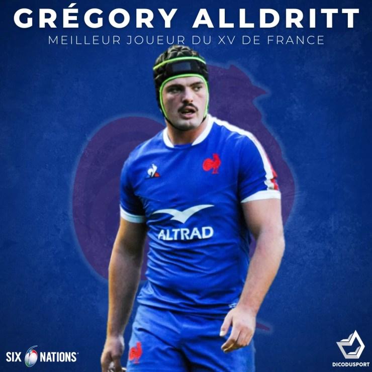 Grégory Alldritt élu meilleur joueur français du Tournoi des 6 Nations 2021