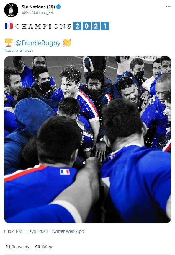 Coup de tonnerre - La France remporte finalement le Tournoi des 6 Nations