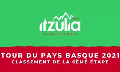 Tour du Pays Basque 2021 - Le classement de la 6ème et dernière étape