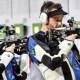 Championnats d'Europe de tir l'équipe de France mixte en or à la carabine