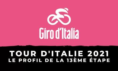 Tour d'Italie 2021 : le profil de la 13ème étape