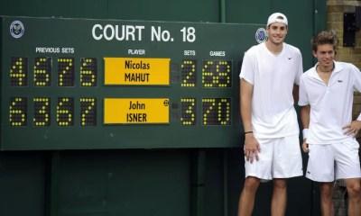 24 juin 2010 : Isner remporte le plus long match de l'histoire du tennis