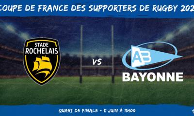 Coupe de France des supporters de rugby 2021 - Quart de finale Stade Rochelais - Aviron Bayonnais
