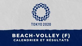 Beach-volley féminin – Jeux Olympiques de Tokyo calendrier et résultats
