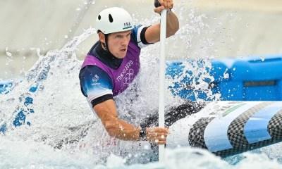 JO Tokyo 2020 - Canoë slalom C1 Benjamin Savsek sacré, Martin Thomas 5ème