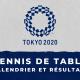 Tennis de table - Jeux Olympiques de Tokyo calendrier et résultats