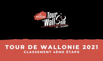 Tour de Wallonie 2021 le classement de la 4ème étape (1)