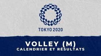 Volley-ball masculin – Jeux Olympiques de Tokyo calendrier et résultats