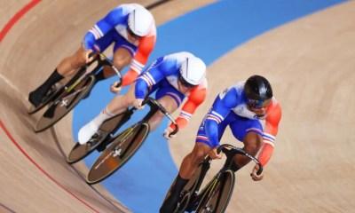 Jeux - JO Tokyo 2020 - Cyclisme sur piste la France en bronze en vitesse par équipe masculine