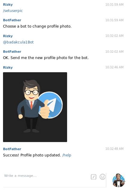 membuat bot telegram - set bot picture