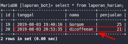 Bot Telegram PHP MySQL