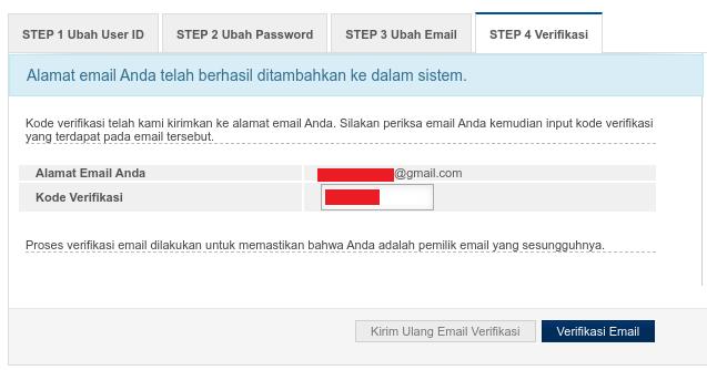 Verifikasi Email Ibanking BRI