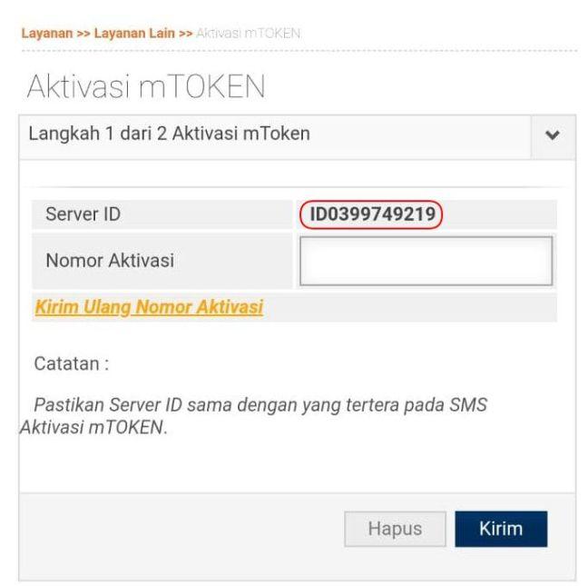 notifikasi Server ID IB BRI