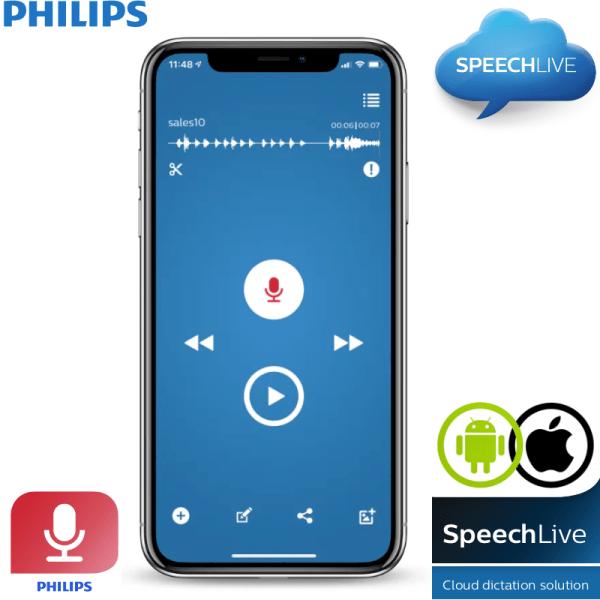 Philips Recorder App iOS Android Speechlive