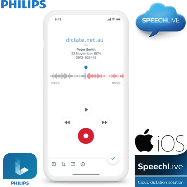 Philips Speechlive iOS App