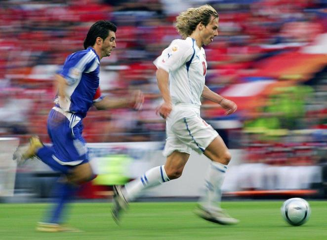 Pavel Nedved in action