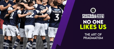 Thumbnail for No One Likes Us Series Part 1 The Art of Pragmatism. It features an image of Millwall celebrating with their fans
