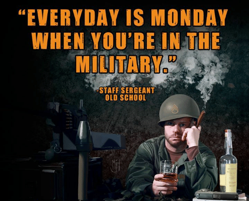 Monday morning Sherman marching