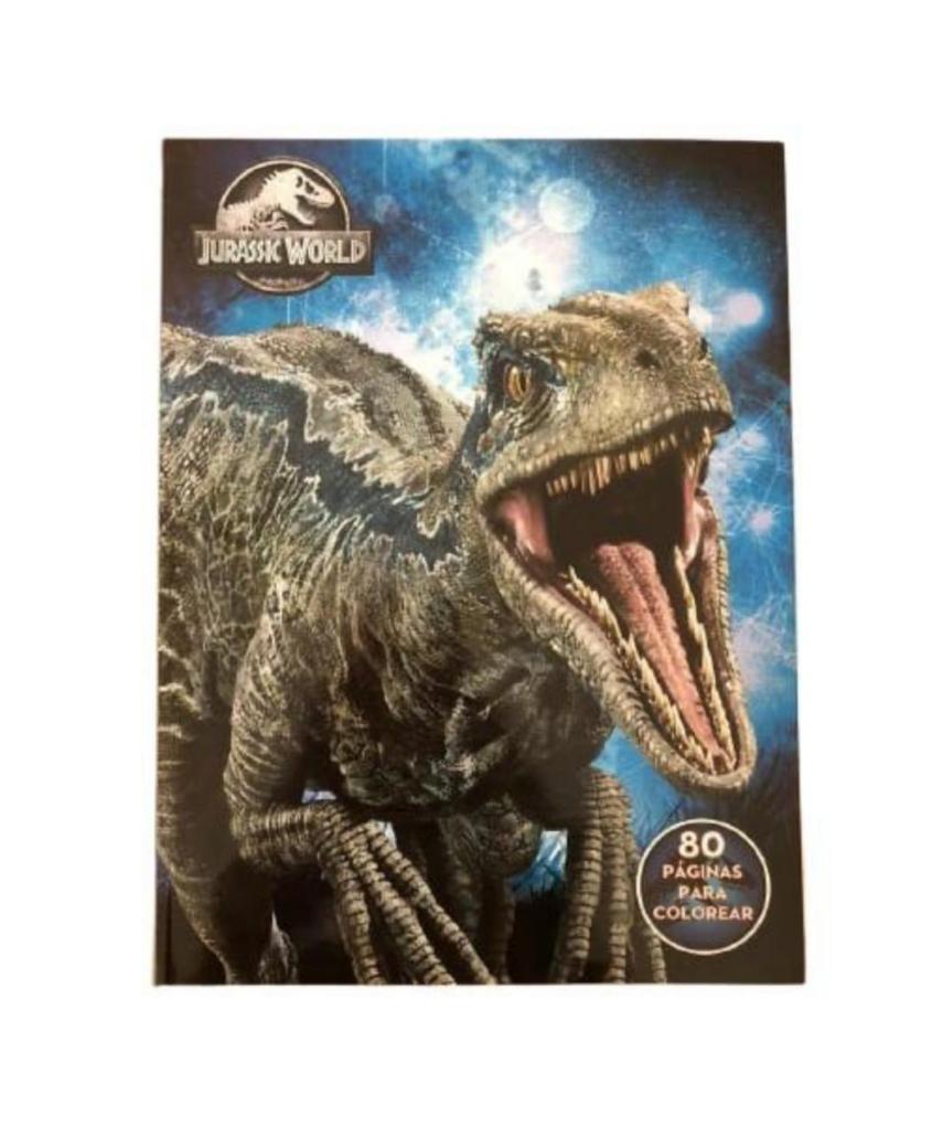 ¡descubre los nuevos dibujos para colorear dinosaurios! Libro para colorear: Jurassic World 2 - Didactic