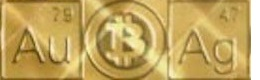 Symbols for Gold Silver and Bitcoin