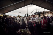 Amatrice (Rieti, Lazio - Italy), 30th August 2016, State funeral held for the people killed in the earthquake occurred on 24th August 2016