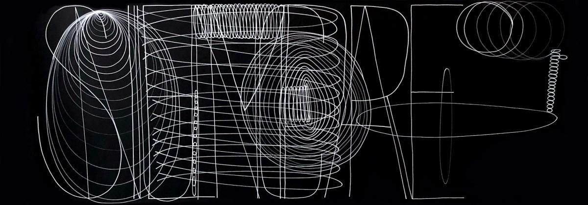 Detalle de obra Cynthia Yee, acrílico sobre papel
