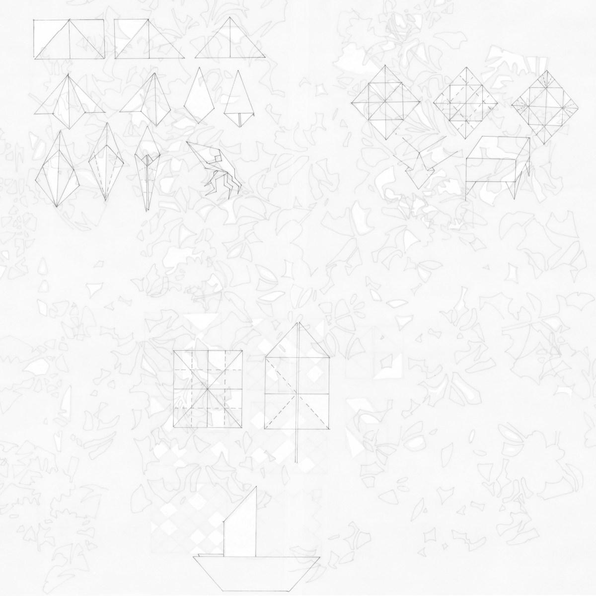 """Dibujo de la artista Maria Campiglia """"Sobre el tacto II"""". Vista del reverso"""