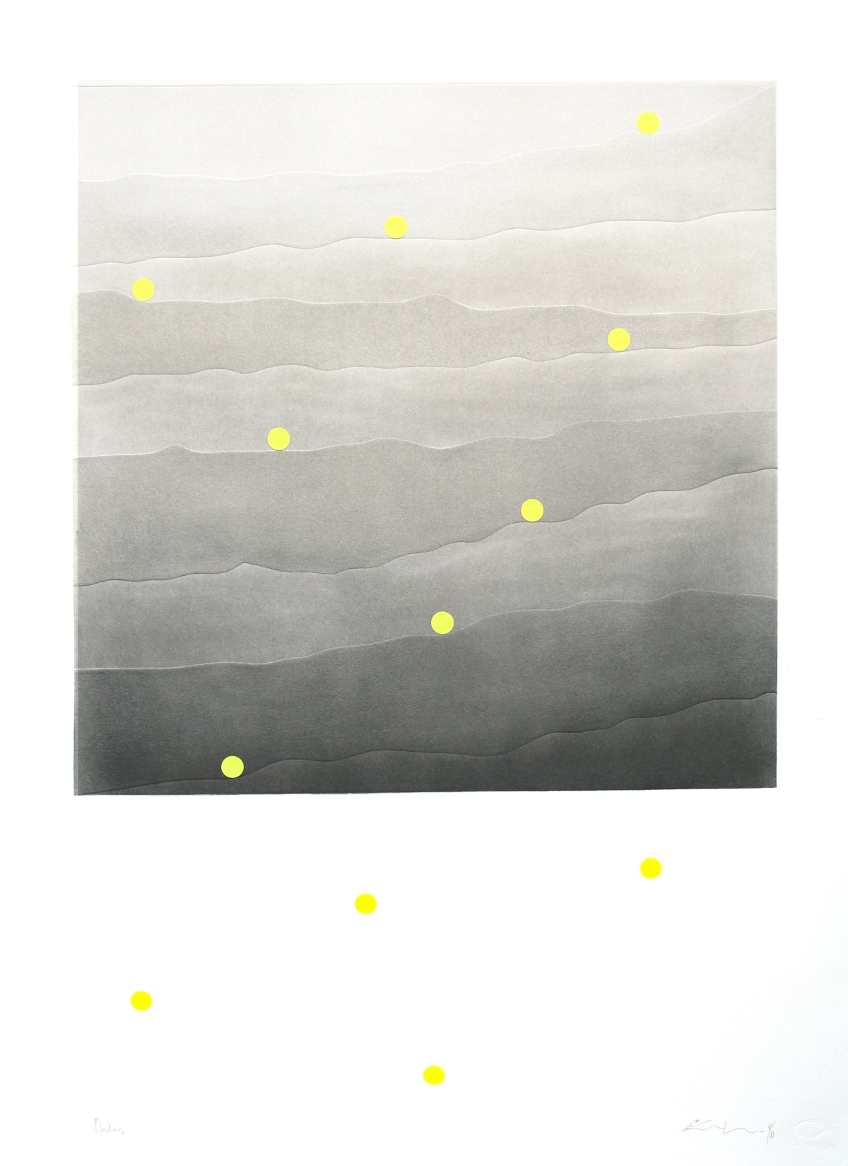 Carlos Vielma. Ondas, 112 x 88 cm, detalle de obra sin marco