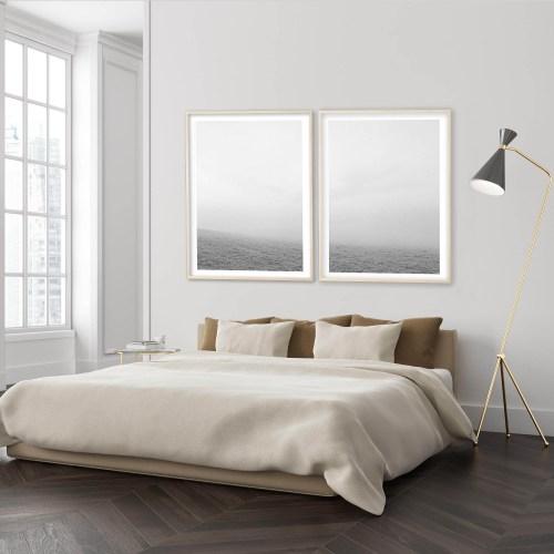 Montaje de fotografías de Andrea Martinez en una habitación