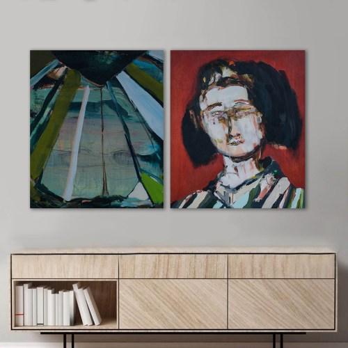 Pintura, Paisaje Japonés de Agustín Guty González en escritorio