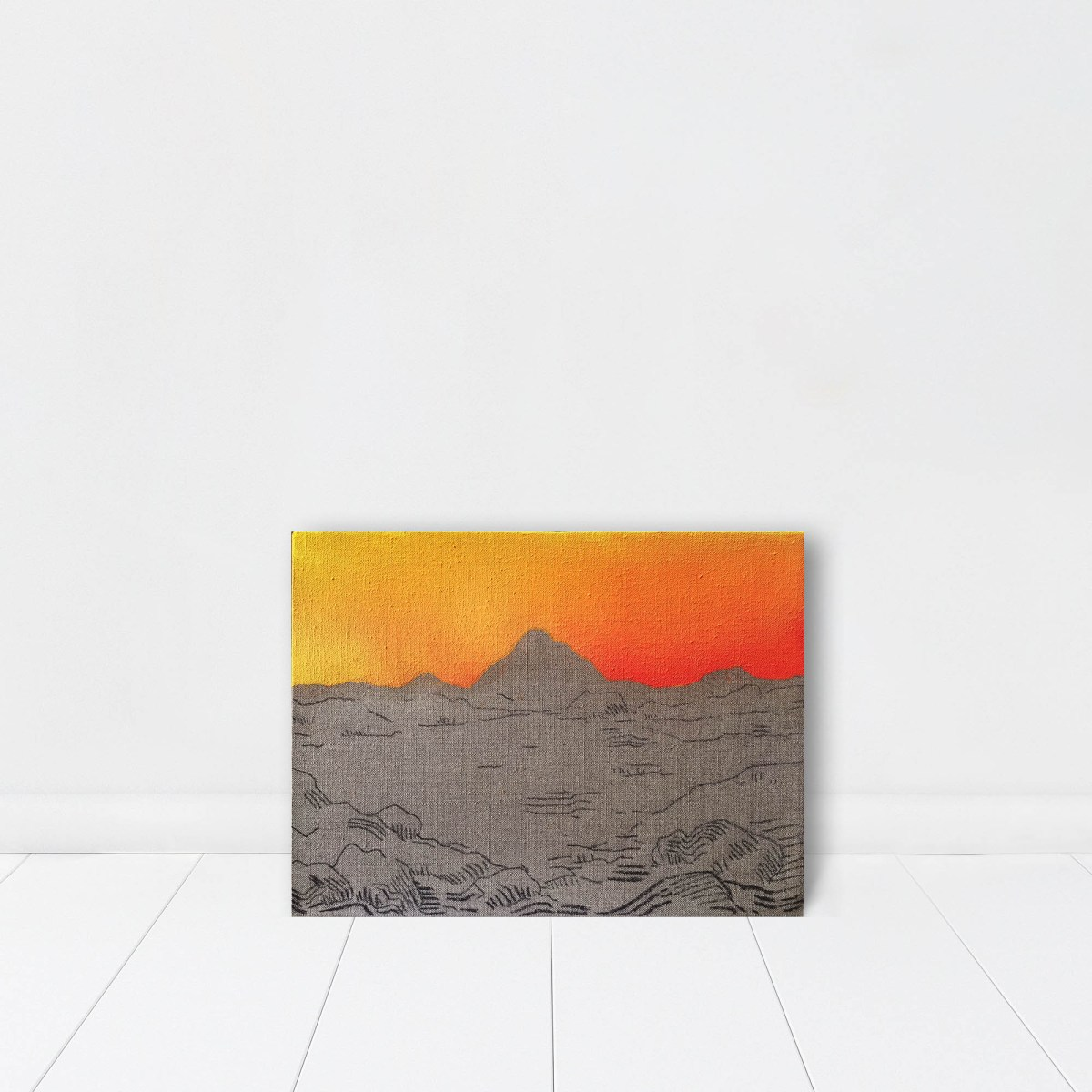 Pintura, Obra Horizonte de Alejandro Pintado en espacio