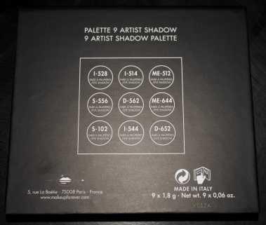 Didichoups - MUFE - Palette 9 Artist Shadow - 02