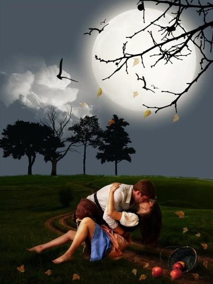Le baiser, art érotique