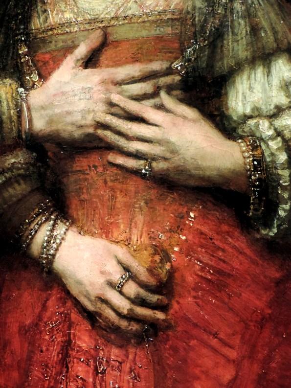 Rembrandt-La fiancée juive-Mains-DidierLONG
