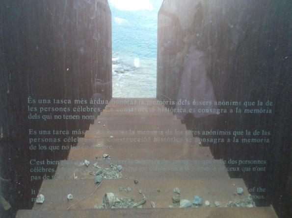 Portbou-WalterBenjamin memorial-3