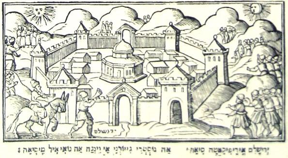 Le prophète Elie annonce l'arrivée du Messie, Haggadah de Venise, 1609