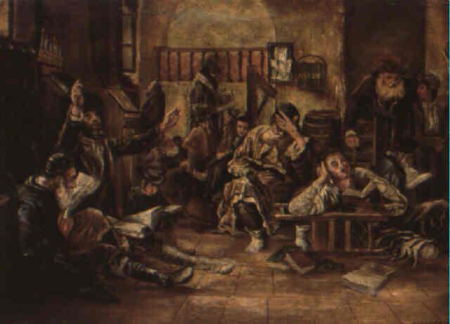 Tisha B'av, tableau de Leopold Horowitz, 1887