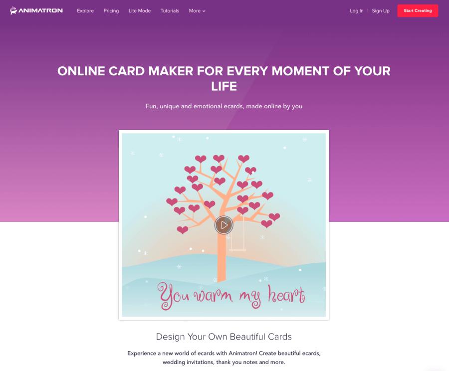 Die beste animierte E-Card Grußkarte erstellen – Vergleich: Beispiele, Anbieter, Preise, Agenturen Animatron-auf-der-Liste.-Dies-ist-ein-animierter-Video-Maker-für-e-Cards-und-digitale-Grußkarte