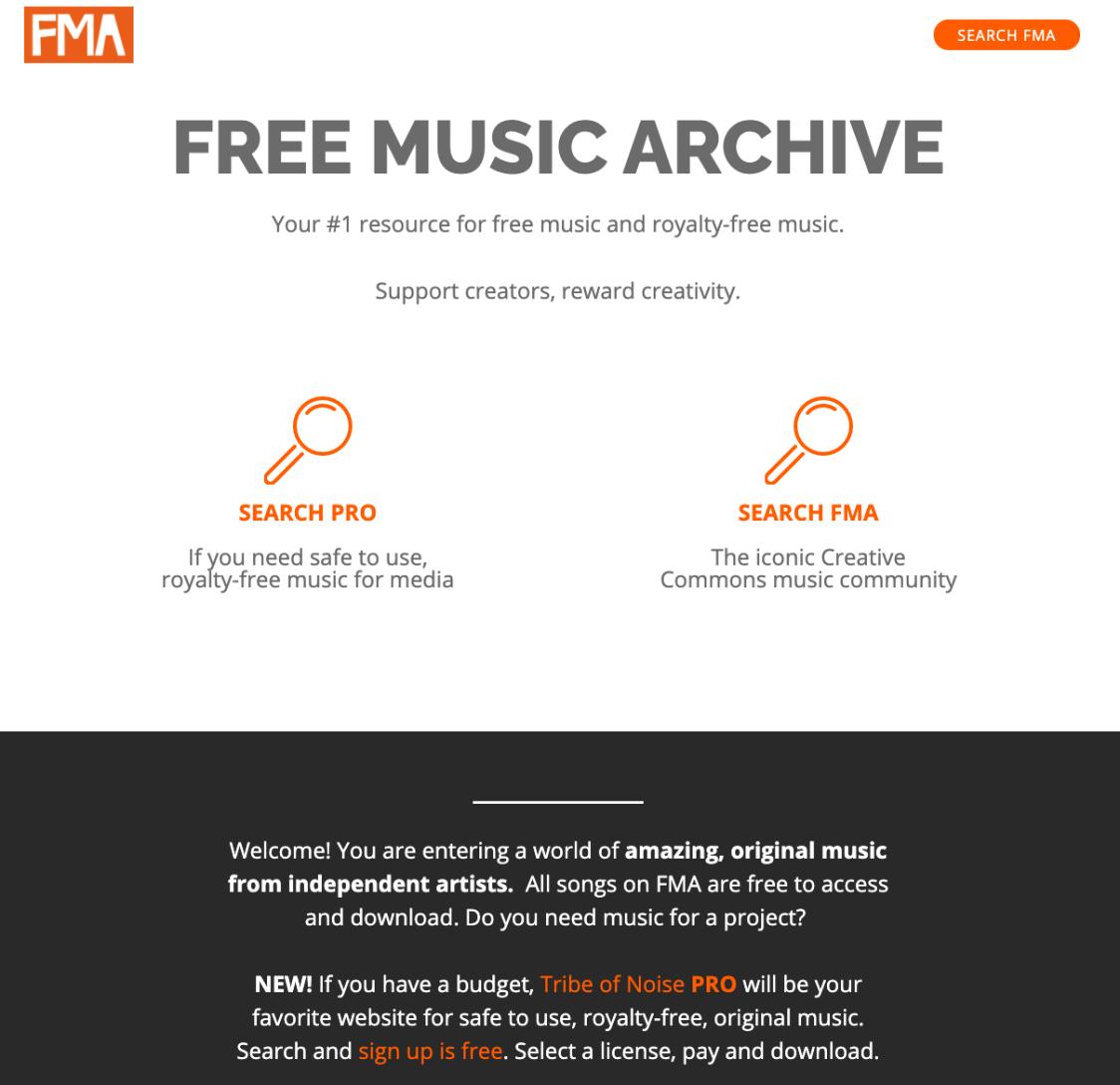 Musik & Sound für Video - 13 Orte, um Hintergrundmusik für Ihren Videoinhalt zu finden Bildschirmfoto-2020-12-30-um-14.27.43