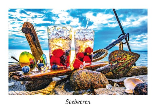 """Ansicht Postkarte """"Seebeeren"""" aus der Serie """"Strandgut"""" Food in der Natur."""