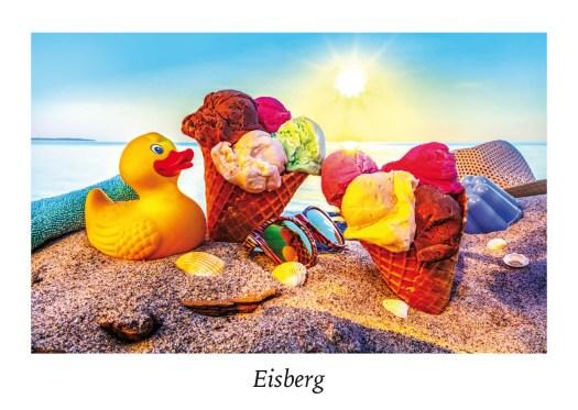 """Ansicht Postkarte """"Eisberg"""" aus der Serie """"Strandgut"""" Food in der Natur."""