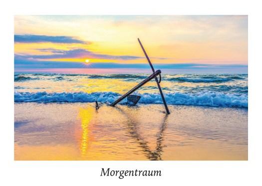 """Ansicht Postkarte """"Morgentraum"""" aus der Serie """"Strandgut"""" Food in der Natur."""
