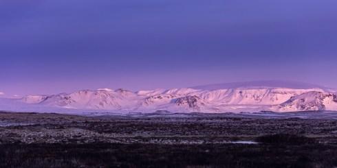 Icelandic highland in morning light