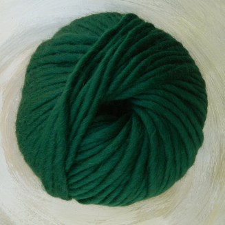 © Die Maschen zum Glück | Dochtwolle Oslo Tannengrün von Seehawer Naturfasern, dickes XL Schnellstrickgarn