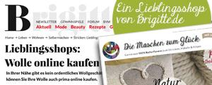 Lieblings Online-Shop von Brigitte.de Wolle online Kaufen. kein Mulesing, artgerechte Tierhaltung | © Die Maschen zum Glueck