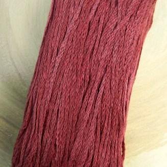 El Linio Ziegelrot Schoppel Wolle | 100% französisches Leinen als feines Baendchengarn | © Die Maschen zum Glück