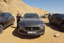 38 Grad am Morgen und Sand, Sand, Sand. Der mid im Praxistest mit dem Maserati Levante Modelljahr 2018. © Jutta Bernhard / mid