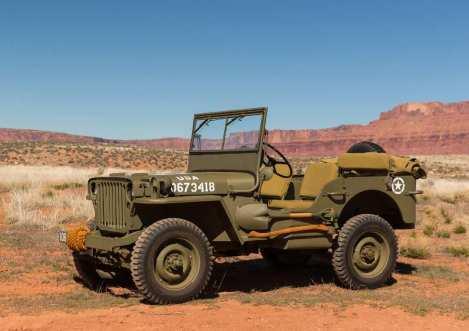 Für die US Army war der Ur-Jeep grundsätzlich olivgrün lackiert.