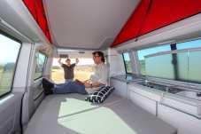 """Raum ist in der """"kleinsten Hütte"""" - natürlich auch im VW Campingbus California. Foto: Auto-Medienportal.Net/Gerhard Prien"""