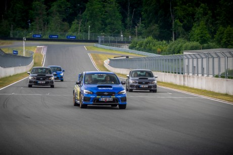 """Fahrspaß auf der privaten Rennstrecke """"Bilster Berg"""": Der Subaru WRX fährt auf seine verdiente Abschiedstour. © Subaru"""